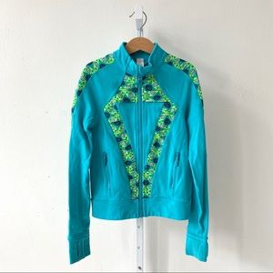 Ivivva Perfect Your Practice Jacket Blue Green 8